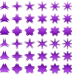 Double peak star symbol set vector