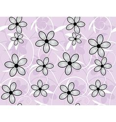 flower swirl vector image