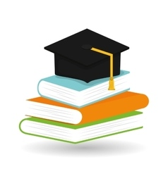 Flat about graduation design vector