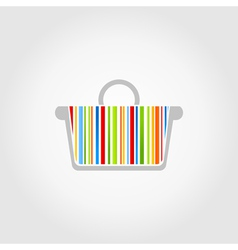 Colorful basket vector