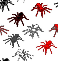 Halloween spider seamless pattern vector