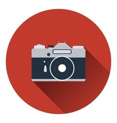 Icon of retro film photo camera vector