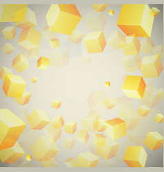 Abstract cubes set background vector