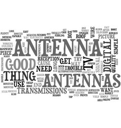 Antenna how one works text word cloud concept vector
