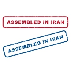 Assembled in iran rubber stamps vector