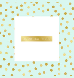 Background with gold dots pattern vector
