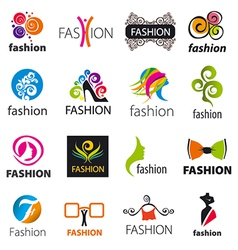 biggest collection of logos fashion vector image