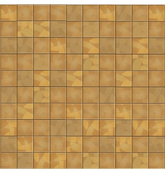 Brown floor tiles seamless background vector image