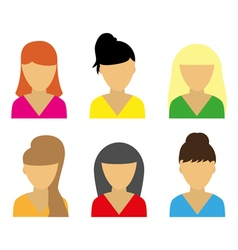 Business icons young beautiful women vector image vector image