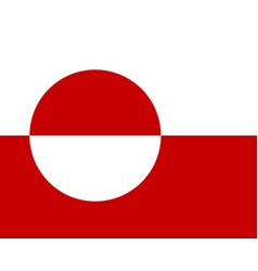 Colored flag of greenland vector