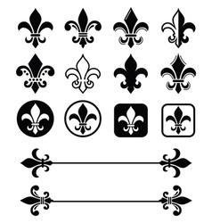 Fleur de lis - french symbol design scouting vector
