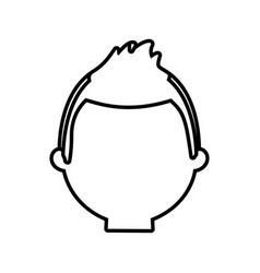 head man male thin line vector image vector image