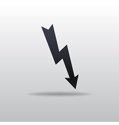 icon of lightning vector image vector image
