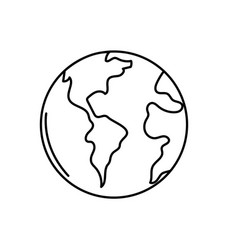 Line global earth planet to geography ubication vector