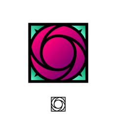 logo ruby rose vector image