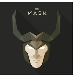 Mask hero into flat style graphics art vector