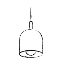 Monochrome blurred silhouette of pendant lamp vector