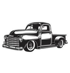 monochrome of retro style truck vector image vector image