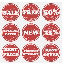 Sale icons set vector