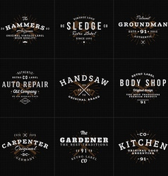 Set of Hipster Vintage Labels Logotypes Badges for vector image vector image
