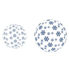 Snowflakes in spheres vector image vector image