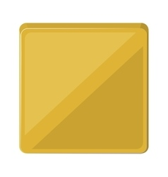 square button isolated icon design vector image