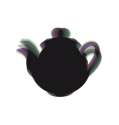 tea maker kitchen sign colorful icon vector image vector image