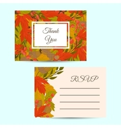Design layout invitation of autumn leaves vector image