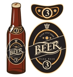 Beer bottle with a label vector