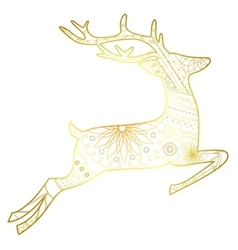 Deer golden isolated vector image