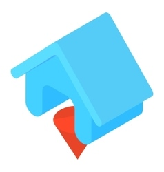 Blue house icon cartoon style vector