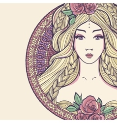 Art nouveau woman vector
