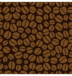 Coffee bean seamless pattern vector