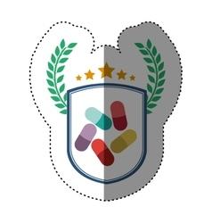 Isolated pills design vector