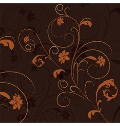 Abstract natural floral ornament vector