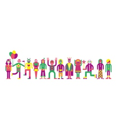 people line vector image