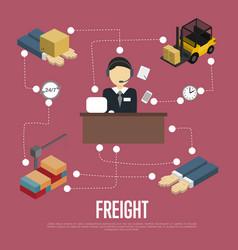 Logistics and freight shipment flowchart vector