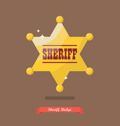 Sheriff badge in flat style vector