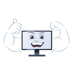 Smiling powerful computer 2 vector