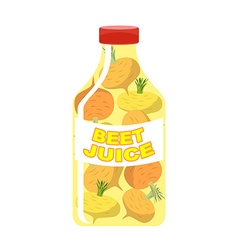 Turnip juice juice from fresh vegetables turnip in vector