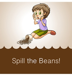 Idiom spill the beans vector