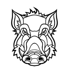 Head of boar mascot design vector image