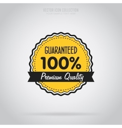 Guaranted isolated badge label or sticker vector