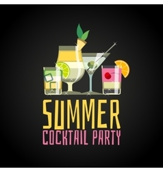 Cocktail summer party vector