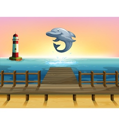 A big fish at the port vector image vector image
