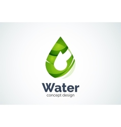 Abstract business company water drop logo template vector image vector image