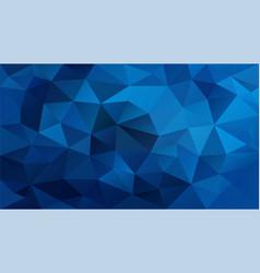 abstract irregular polygonal background royal blue vector image