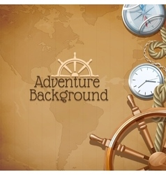 Adventure map background vector