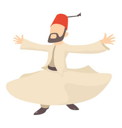 Arabic man icon cartoon style vector