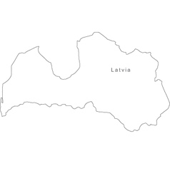 Latvia Outline Vector Images - Latvia map outline